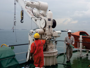 Single Arm Davit Winch Inspection